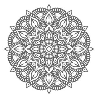 Desenhado à mão conceito decorativo mandala Vetor Premium