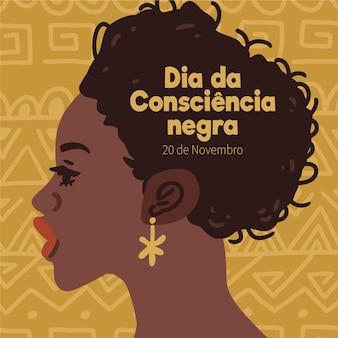 Desenhado à mão dia da consciência negra