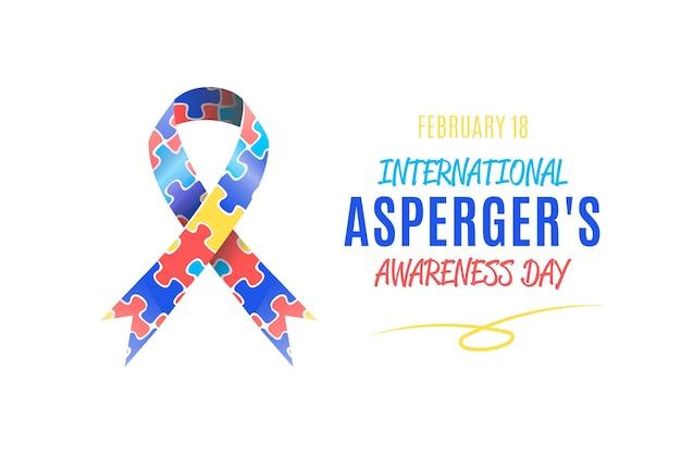 Desenhado à mão - dia internacional da conscientização de asperger