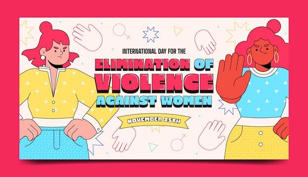 Desenhado à mão dia internacional plano para a eliminação da violência contra as mulheres