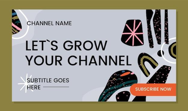 Desenhado à mão formas abstratas arte do canal do youtube