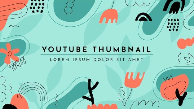 Desenhado à mão formas planas e abstratas em miniatura do youtube