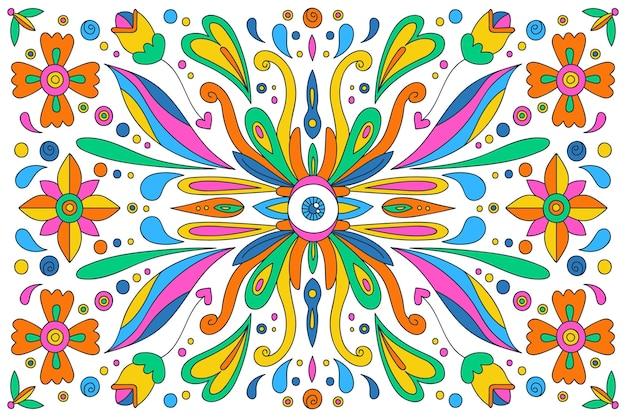 Desenhado à mão fundo psicadélico moderno