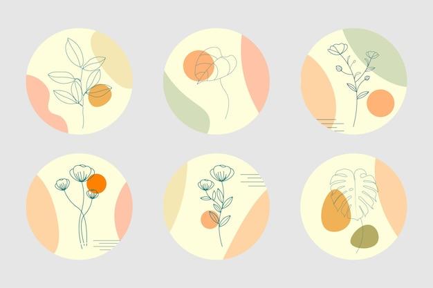 Desenhado à mão minimalista para história de capa do instagram
