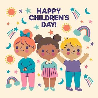 Desenhado à mão no dia mundial da criança