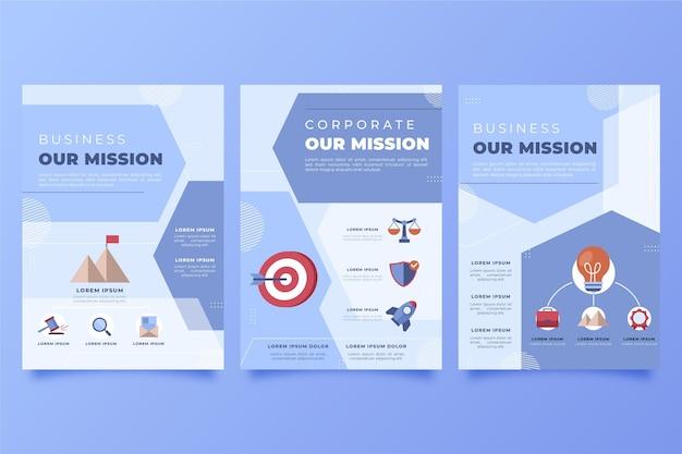 Desenhado à mão os nossos panfletos de missão