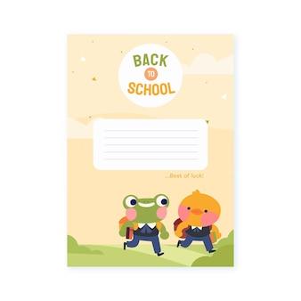 Desenhado à mão para o modelo de cartão escolar