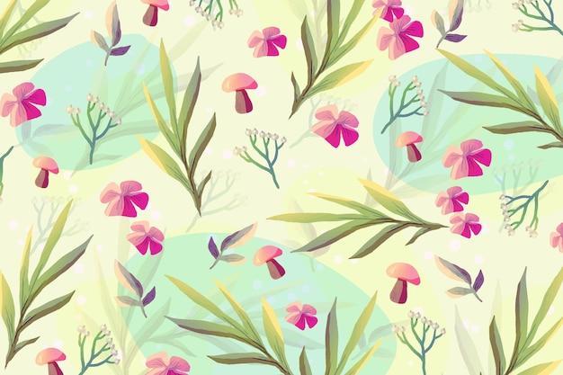 Desenhado fundo colorido de primavera pintado