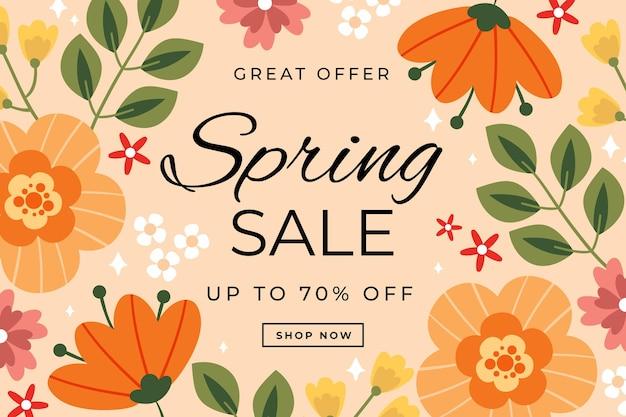 Desenhado lindo fundo de venda de primavera