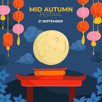 Desenhado no festival do meio do outono