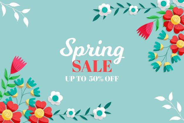 Desenhado papel de parede adorável venda de primavera