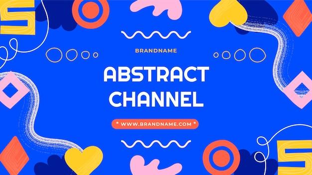 Desenhados à mão formas abstratas em miniatura do youtube