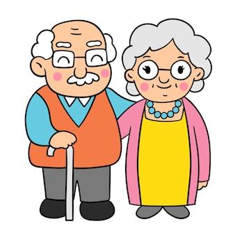 Desenhe estilos de garatujas do dia dos avós.