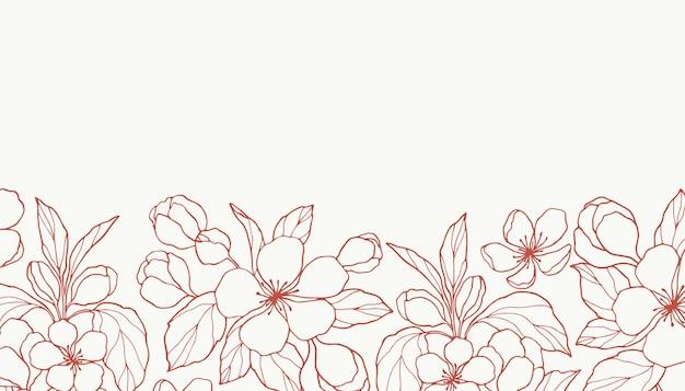 Desenhe fundo de flor de maçã