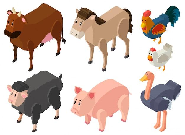 Desenho 3d para animais de fazenda