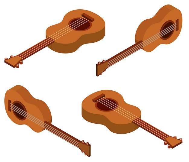 Desenho 3d para ukulele
