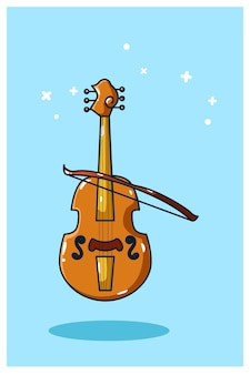 Desenho à mão de ilustração vetorial de violino