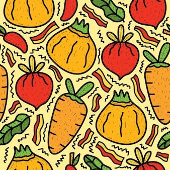 Desenho à mão desenho vegetal desenho padrão