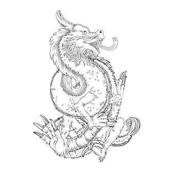 Desenho à mão dragão