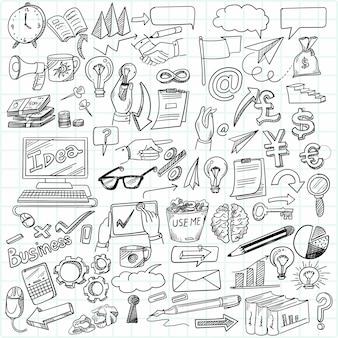 Desenho à mão, ideia de negócio, desenho, esboço