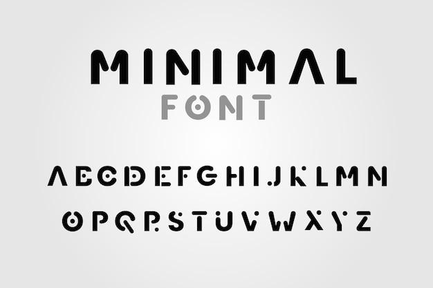 Desenho abstrato alfabeto mínimo