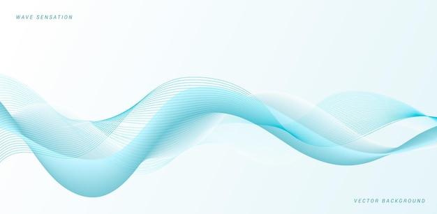 Desenho abstrato azul de ondas fluidas