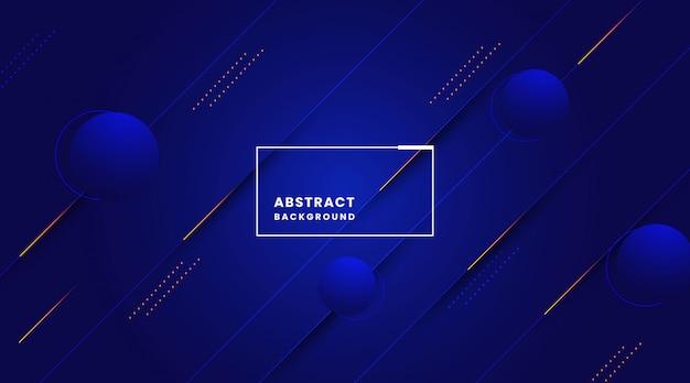 Desenho abstrato azul