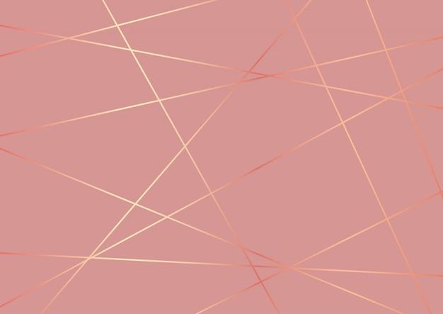 Desenho abstrato baixo poli em ouro rosa