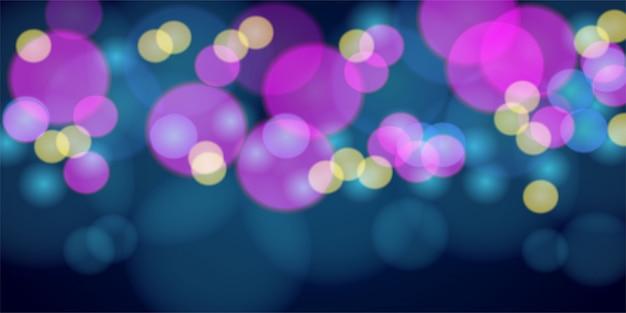 Desenho abstrato colorido de luz de bokeh