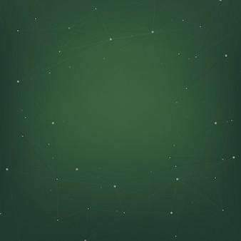 Desenho abstrato com estrelas em verde