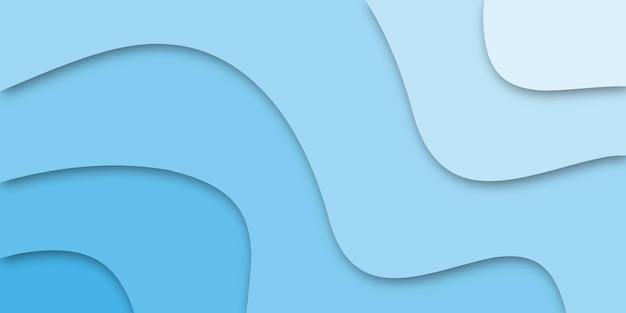 Desenho abstrato com recorte de papel azul