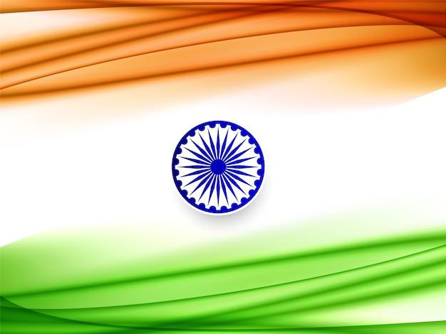 Desenho abstrato da onda fundo da bandeira indiana