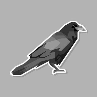 Desenho abstrato de arte pop de corvo