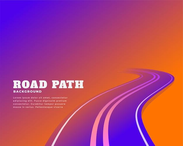 Desenho abstrato de cores de vias rodoviárias