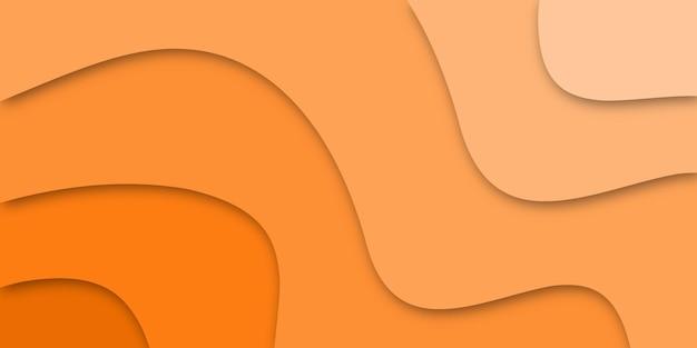 Desenho abstrato de corte de papel laranja