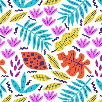 Desenho abstrato de folhas desenhadas à mão