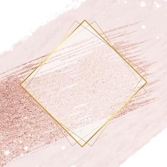 Desenho abstrato de ilustração em moldura dourada