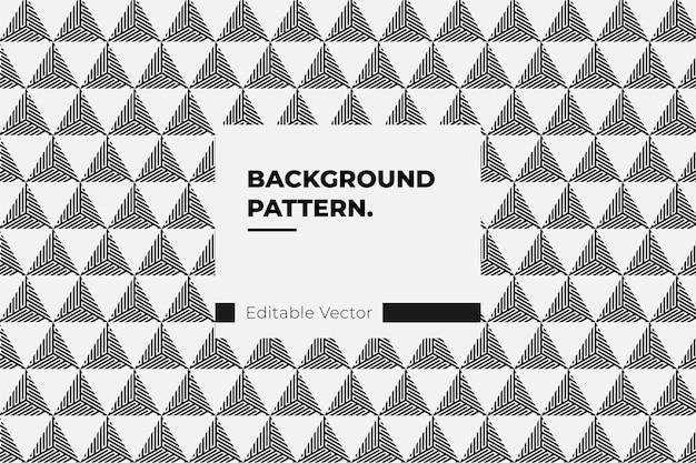 Desenho abstrato de linha de triângulo de fundo padrão