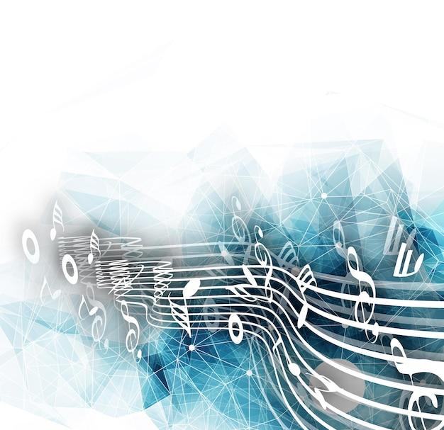 Desenho abstrato de notas musicais para ilustração vetorial de uso de fundo musical