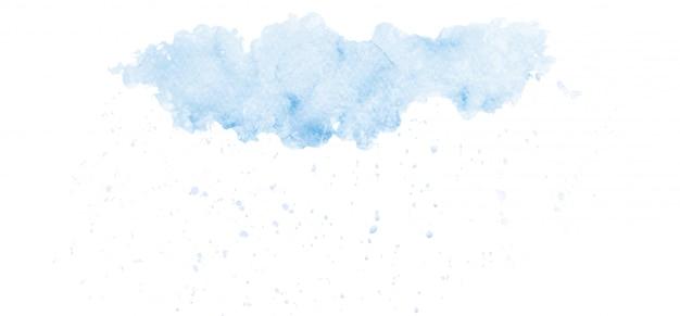 Desenho abstrato de nuvens de chuva no céu com aquarela