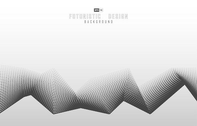 Desenho abstrato de padrão de linha de traço do modelo de design