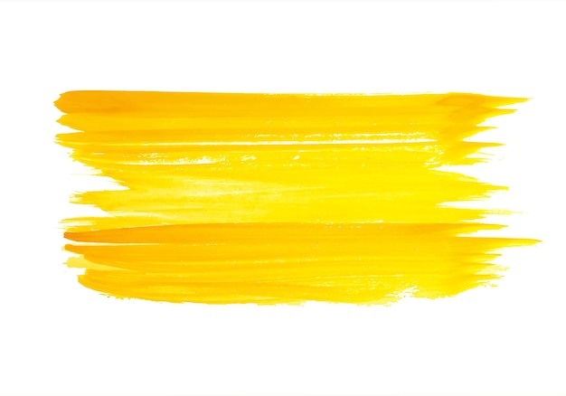 Desenho abstrato de pincelada laranja