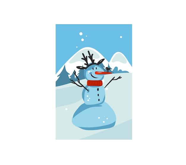 Desenho abstrato divertido estoque feliz natal