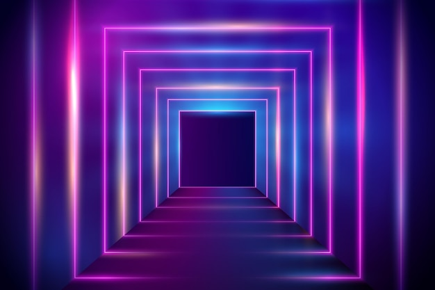 Desenho abstrato do fundo das luzes de néon