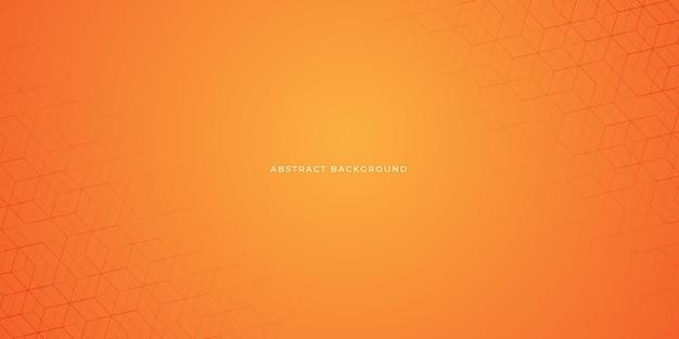Desenho abstrato geométrico de fundo laranja