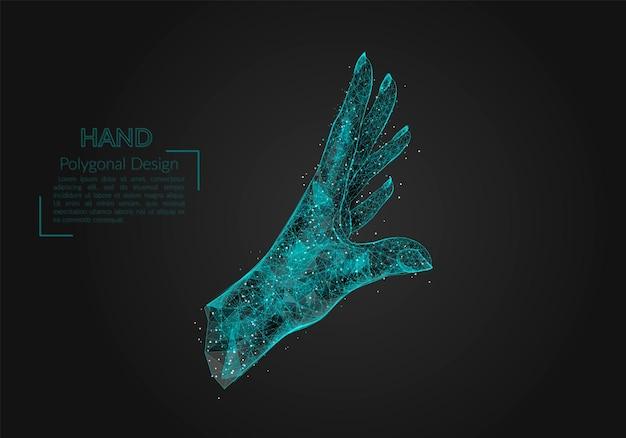 Desenho abstrato isolado de palma humana