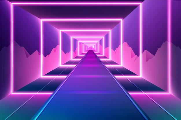 Desenho abstrato neon