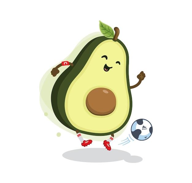 Desenho animado abacate futebol