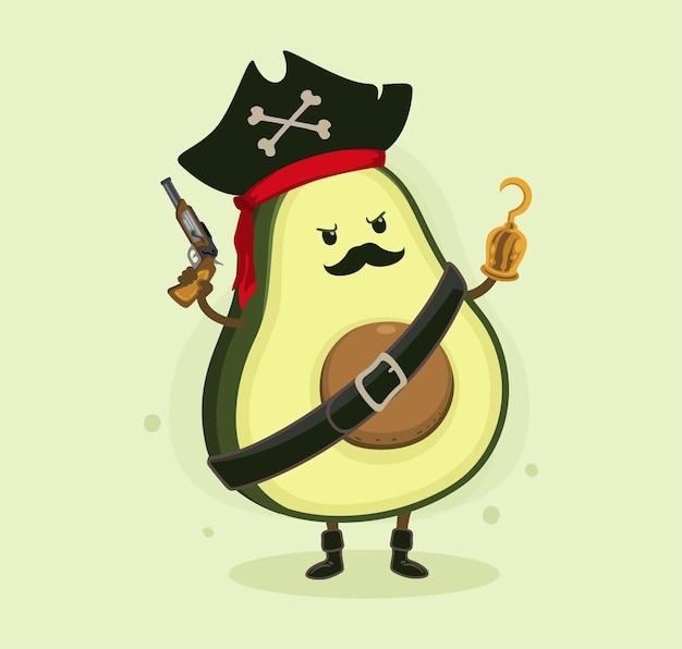 Desenho animado abacate piratas