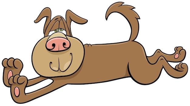 Desenho animado alongamento cão personagem animal